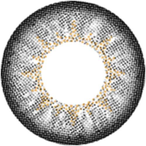 Matlens – EOS Farbige Kontaktlinsen ohne Stärke grau gray Big eyes Luna 2 Linsen 1 Kontaktlinsenbehälter 1 Pflegemittel 50ml