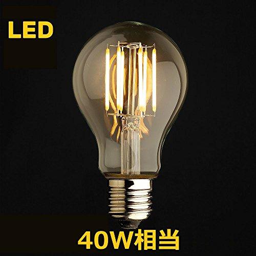 LED電球 E26 フィラメント クリアタイプ 電球色相当 一般電球40W led LEDクリア電球 (40W形×1個)