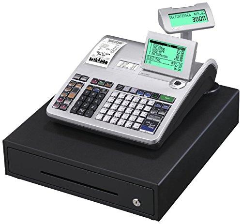 Casio SE-S3000MB-SR-FIS GDPdU-fähige Registrierkasse inclusive Softwarelizenz, SD-Card und Batterie Komplettpaket und kostenfreier Hotline, silber/schwarz