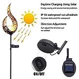 Powstro a energia solare a energia solare impermeabile Lanterna solare da esterni in ferro cavo per patio e cortile