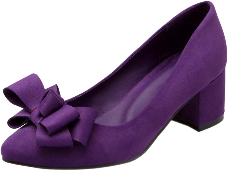 TAOFFEN Women Mid Block Heels Pumps shoes