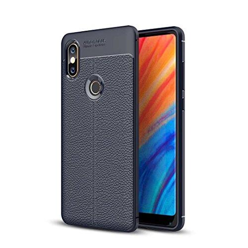Funda® Firmeza y Flexibilidad Smartphone Carcasa Case Cover Caso para Xiaomi Mi Mix 2S(Azul Oscuro)