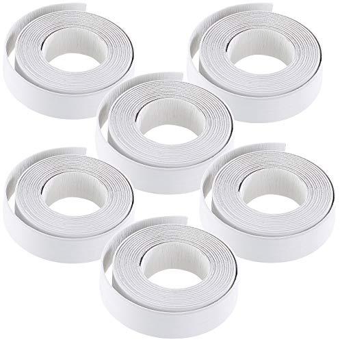 AGT Fugendichtband: 6er-Set Fugen-Dichtungsbänder für Badezimmer, Küche, Fenster und Türen (Fugendichtungsband Sanitär)