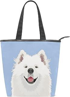 alaza Tote Leinwand Umhängetasche Samojeden Hund Handtasche