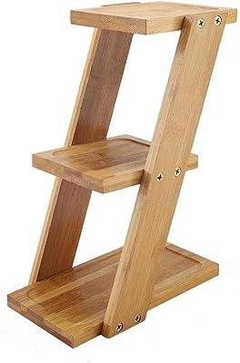 Supporto per piante in vaso a 3 livelli in bambù Supporto per vasi da fiori Organizer Portaoggetti Scaffale per piante in bambù