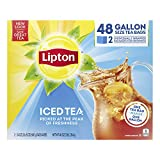 Lipton Gallon-Sized Iced Tea Bags Picked At The Peak of Freshness Unsweetened Can Help Support a Healthy Heart 48 oz 48 Count