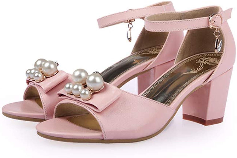 MENGLTX High Heels Sandalen Neue Ankunft Frühling Sommer Frauen Sandalen High Heels Quadratische Ferse Solide Mit Schnalle Schmetterling Knoten Damen Schuhe