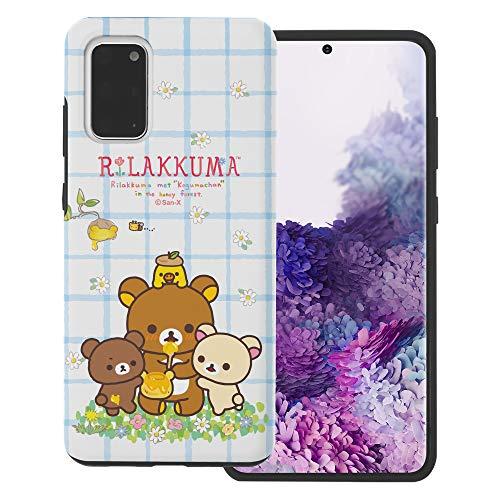 Compatible with Galaxy S20 Plus Case (6.7inch) Rilakkuma Layered Hybrid [TPU + PC] Bumper Cover - Rilakkuma Honey