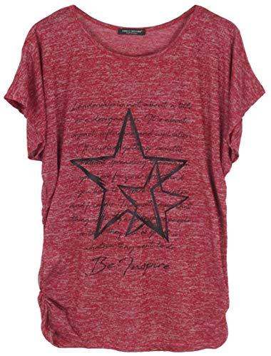 Emma & Giovanni - T-Shirt/Oberteile Kurzarm - Damen (# Bordeaux, XL/XXL)
