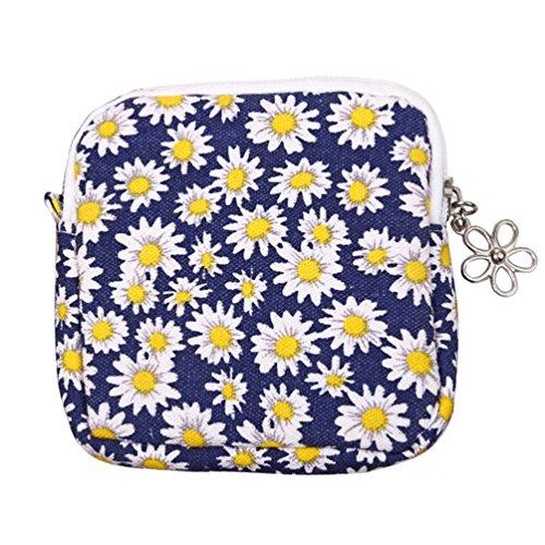 Bluelans Coin Purse Women Cute Sanitary Pad Organizer Holder Napkin Towel Convenience Bag