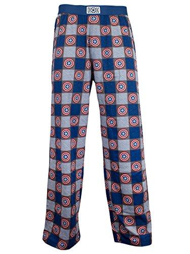 Marvel Avengers - pantalones del pijama para Hombre - Capitán América - Large