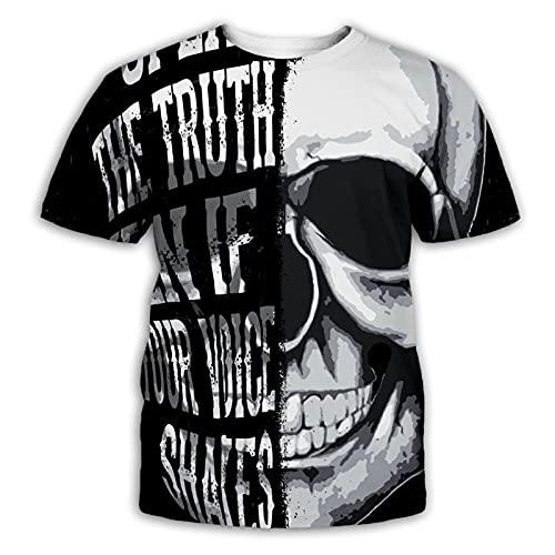 SSBZYES Camisetas De Verano para Hombre Camisetas De Talla Grande para Hombre Camisetas con Estampado De Calavera para Hombre Camisetas De Fondo para Hombre Tops Casuales para Hombre