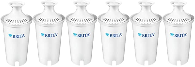 Brita 35557 Replacement Filters for Pitchers and Dispensers, 6 count