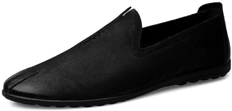 Mans tillfälliga skor, vårskor och och och tofflor, herrskor som kan trösta sig med Slip -Ons gående Gym skor, svart,44  noll vinst