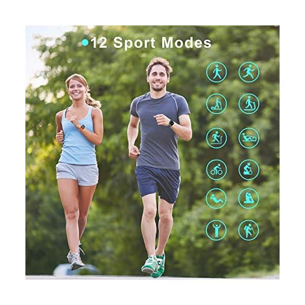 Blackview Smartwatch,Reloj Inteligentes Deportivo Fitness Tracker Hombre Mujer,Impermeable 5ATM Pulsera de Actividad… 6