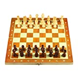 Soul hill Plegable ajedrez de Madera Set Standard Viajes Internacional de Ajedrez Juego de Mesa Juego de GJXQ-02 zcaqtajro