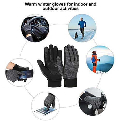 Vbiger Herren Touchscreen Fahrhandschuhe SMS Handschuhe für Frühling Herbst Winter, Gr.-S, Schwarz-1 - 6