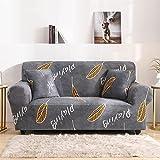 MKQB Funda de sofá elástica con Estampado de Sala de Estar, Funda de sofá Antideslizante con Todo Incluido, Funda de sofá de Esquina en Forma de L NO.2 3seat-L- (190-230cm