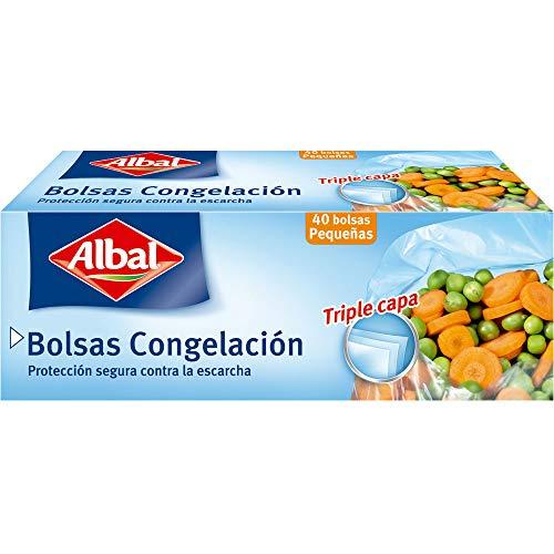 Albal Bolsa de Congelación de Alimentos, Tamaño Pequeño - 40 Unidades