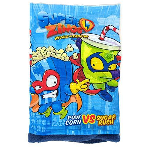 Rivals of Kaboom Superzings Scaldacollo per bambini Superthings, scaldacollo multifunzione corallo, taglia unica blu
