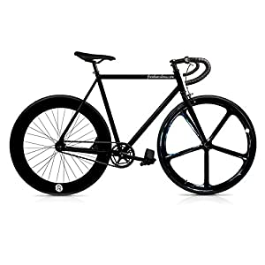 /Single Speed Fixie Fahrrad Fix 5Black. monomarcha. Größe 56