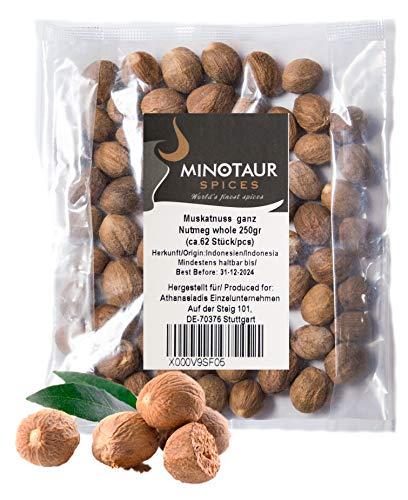 Minotaur Spices | Muskatnuss ganz | 2 X 250g (0,5 Kg) | ca. 124 Stück