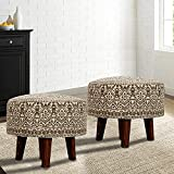 Brand: Nestroots Wooden Legs coupled with supreme comfort makes our exclusive printed seat Ottoman an excellent choice for versatile placement. Crafted with fine wood and cushion wrapped foam core seat makes it both durable and stunning. Call it a po...