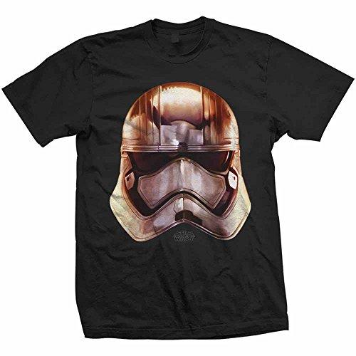 Rockoff Trade Phasma Big Head T-Shirt, Noir-Noir, XX-Large Homme