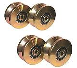 4 pack--4' V Groove Wheel Double Bearing Sliding Gate 3000 Lbs Roller Slide+screw
