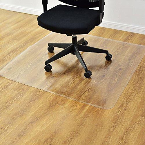 AKHAK vloerbeschermingsmat voor harde vloer, antislip bureaustoel mat rechthoek mat mat transparante bureaustoel mat voor vloerbescherming 120x120cm