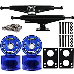 top rated 76mm Longboard Skateboard Truck Combo Kit Bigfoot Cruiser Wheels, Black Tracks, Bearings, … 2021