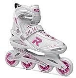 Roces Damen ICON Inline Skates, White/Magenta, 37