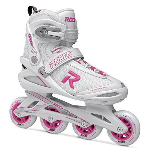 Roces Damen ICON Inline Skates, White/Magenta, 38