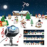 EAMBRITE Christmas Animated Projector Lights with Music Playback Snowman Snowflake Projector Light Decoration for Outdoor Wedding Xmas Holiday Party Decorations