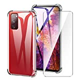 LYZXMY Funda para Samsung Galaxy S20 FE (6.5') + Protector de Pantall - Carcasa Protectora Delgada y Transparente con Refuerzo en Las Esquinas Parachoques Fundas de TPU Flexible