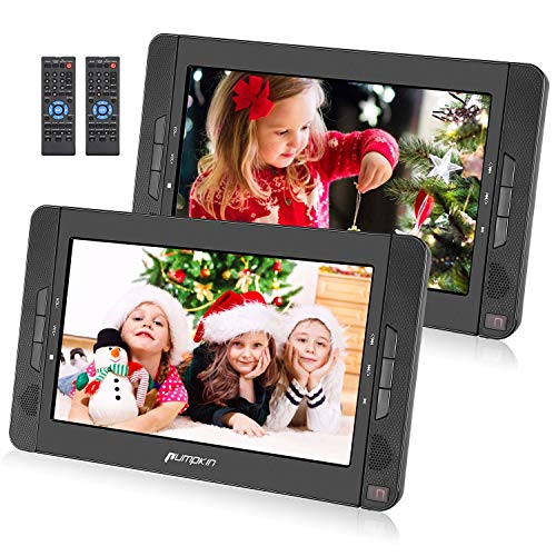 Pumpkin Lecteur DVD Portable Voiture Deux Ecran d'appuie-tête indépendants 10,1 Pouce (2...