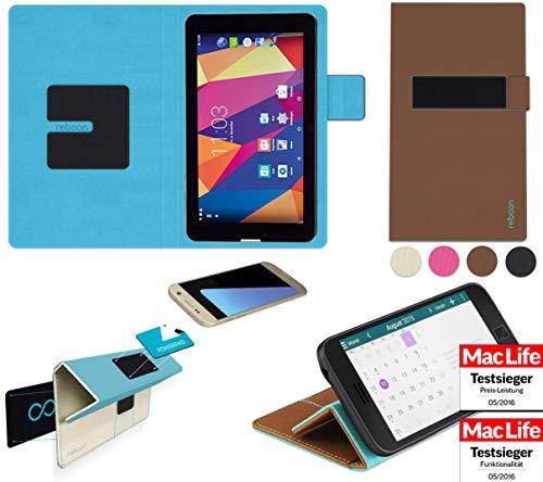 reboon Hülle für Captiva Pad 7 3G Kommunikator Tasche Cover Case Bumper | in Braun | Testsieger