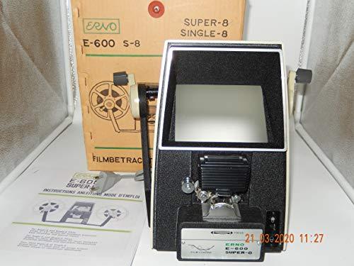 ERNO E-600 Filmbetrachter für Filme SUPER-8 und SINGLE-8 mit Handbuch, Lauf im Handbetrieb bis 300 U/min, NEU im geöffnen OVP oder ohne OVP
