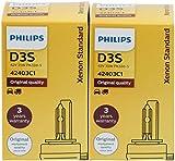 2 x Lampada Xenon Philips D3S 42302 Xenstart Standard Originale per macchine