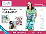 Zierstoff einfach nähen Schnittmuster auf Papier, Kleid Pamela, Gr. 158 bis 46 - auch als Schwangerschaftskleid zu tragen!