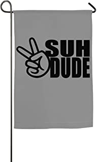 WINDST Personalized Suh Dude Pattern Logo Garden Flag 12x18 Inch for Patio,Home,Yard,Outdoor Decorative