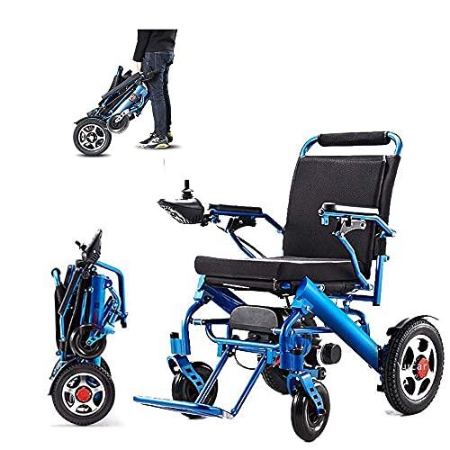 BSJZ Sedia a rotelle elettrica Portatile per Adulti, Telaio Leggero e Pieghevole, Sedia da Viaggio compatta, Avia Approvata dalla FDA