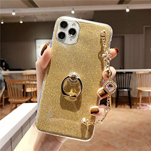 LIUYAWEI Fashion Bling Diamond Luxury Bracelet Funda para teléfono con cordón para iPhone 4 5 6 7 8 4S 5S 5C 5SE 6S Plus 11 X XS XR Pro MAX Funda, Dorada, para iPhone 4G