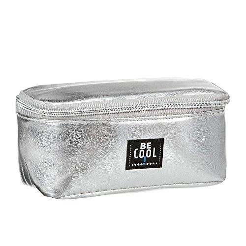 Be Cool kleine Kühltasche Kühlmäppchen für Kosmetik, Medizin, Brotzeit silber 20 x 10 x 9,5 cm
