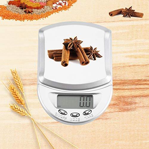Omabeta Mini Herramientas de medición electrónicas de conteo novedosas báscula electrónica de Alta precisión de Cocina portátil para la Familia