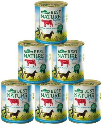 4 x 100 g Dehner Best Nature 400 g Saco para Perros con Aletas de Vacuno Blancas