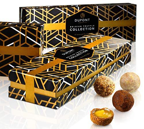 Belgische schokolade - pralinenschachtel mit milch und zartbitterschokolade, trüffel. DuPont - schokoladen geschenkpackung für geburtstage, Geschäftskunden, gastgeschenk, Weihnachtsgeschenke