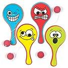 Baker Ross AV3013 Funky Faces Biff Bats Value Pack — Novelty Toys for Kids, Perfect Party, Loot or Prize Bag Filler (Pack of 5), Asst Colours