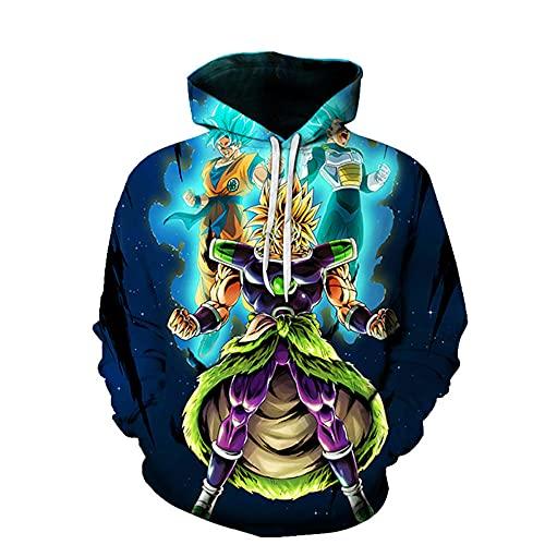 LLYTX Unisex Pullover Hoodie 3D-Druck Dragon Ball Z Langarm Monkey King Sweatshirt Frühling Herbst mit Pocket-04_XL