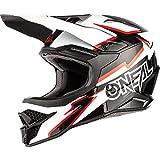 O'NEAL | Casco de Motocross | MX Enduro | Estándar de Seguridad ECE 22.05, Ventilación para una óptima ventilación y refrigeración | Voltaje del Casco 3SRS | Adultos | Blanco Negro | Talla XS